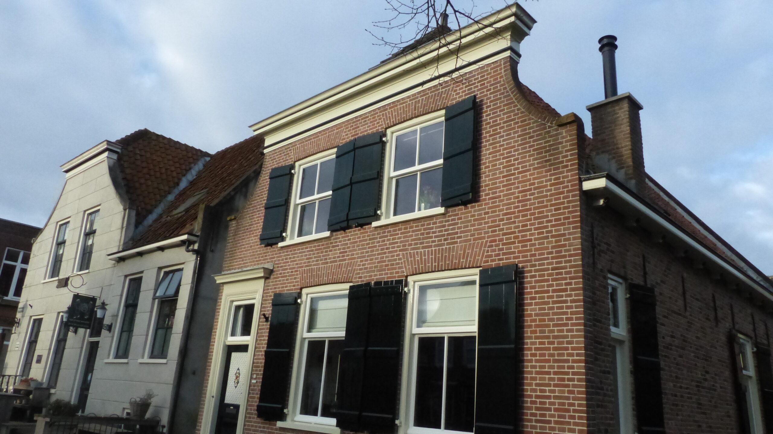 Voorgevel Nieuwpoorts monument woonhuis